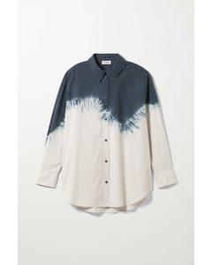 Edyn Poplin Shirt Blue Tie-dye