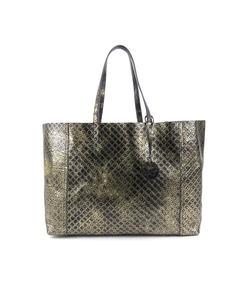 Bottega Veneta Intrecciomirage Leather Shoulder Bag Gold