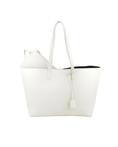 Ysl E/w Leather Tote Bag White