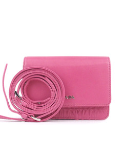 Prada Gaufre Leather Crossbody Bag Pink