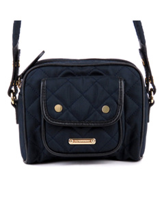 Burberry Quilted Nylon Crossbody Blue