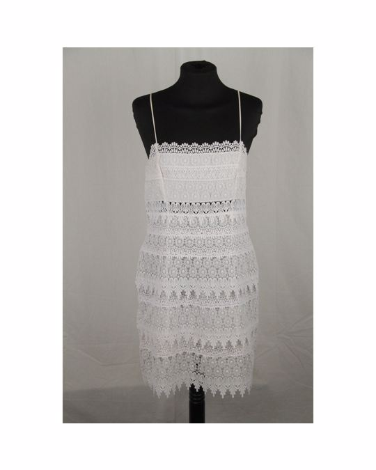 Other Charo Ruiz Ibiza White Lace Sleeveless Mini Dress Size M