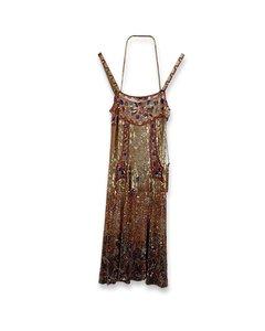 Blumarine Sequin Embellished Cami Dress Set With Bag Size 40