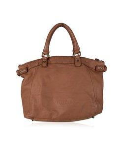 Liebeskind Berlin Tan Leather Satchel Tote Bag Handbag