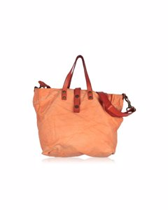 Orange Canvas Tote Shoping Bag