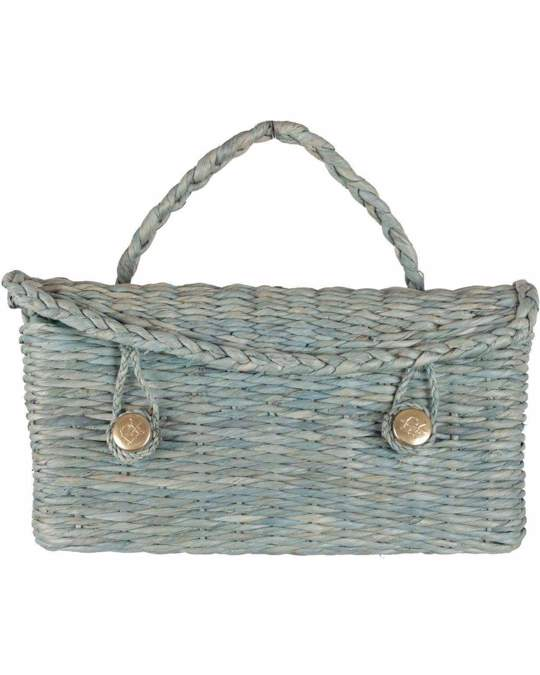 Other Roberta Di Camerino Vintage Green Woven Raffia Straw Handbag Satchel