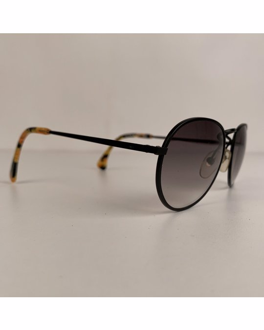 Other Alain Mikli Black Metal Mint Unisex Round Sunglasses Mod Am 89 651 393