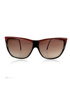 Roberta Di Camerino Vintage Black Red Square Sunglasses R56