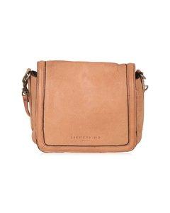 Liebeskind Berlin Beige Leather Unisex Crossbody Flap Messenger Bag