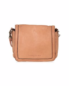 Liebeskind Berlin Beige Leather Unisex Crossbody Flap Messenger Bag
