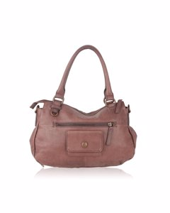 Liebeskind Taupe Leather Tote Handbag With Front Pocket