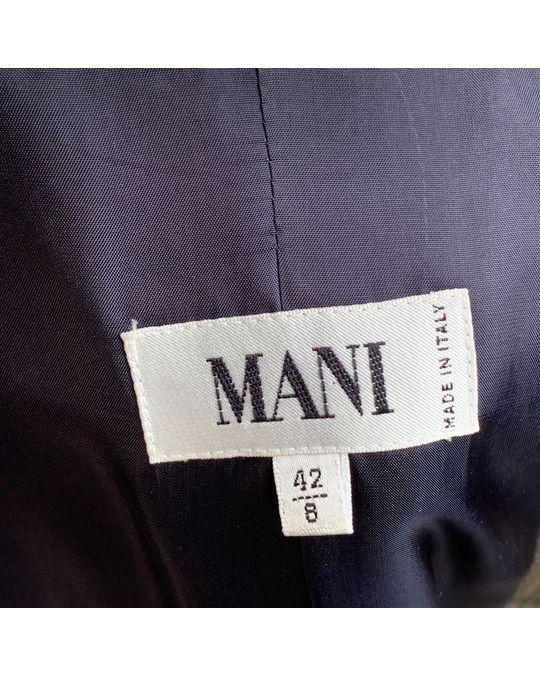 Other Mani Vintage Beige Black Houndstooth Look Blazer Size 42