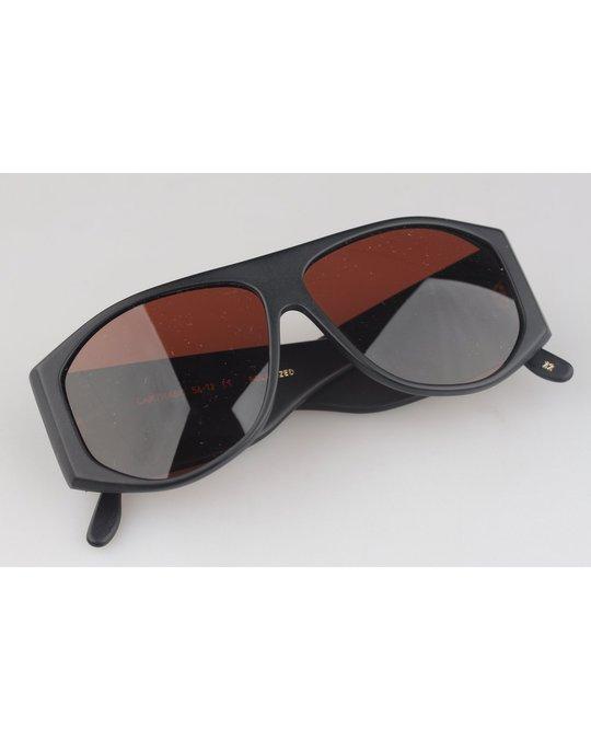 Other Matt Black Sunglasses Mod Carthago Polarized Lens 56mm