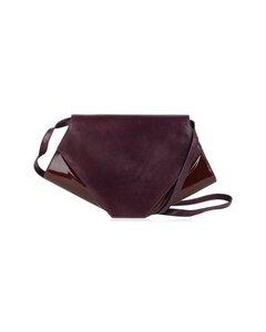 Charles Jourdan Vintage Purple Patent Leather Messenger Clutch Bag