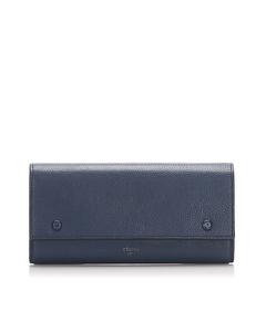 Celine Continental Leather Wallet Blue