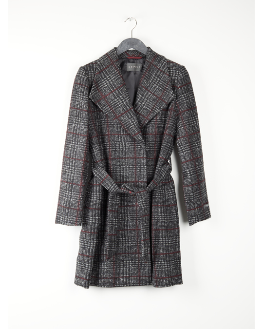 Esprit Woven Coat Dark Grey