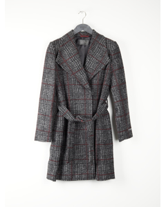Woven Coat Dark Grey