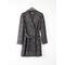 Woven Coat Dark Grey