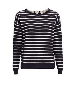 Stripe Logo Sweater Navy 4