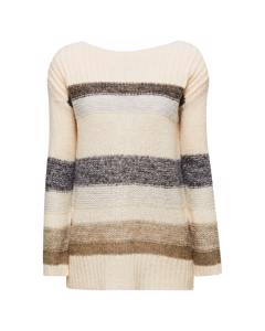 Striped Sweater Beige 2