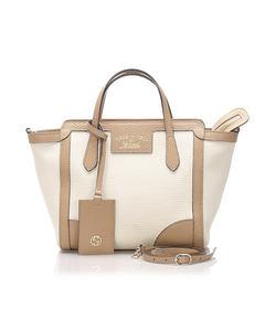 Gucci Swing Canvas Tote Bag White