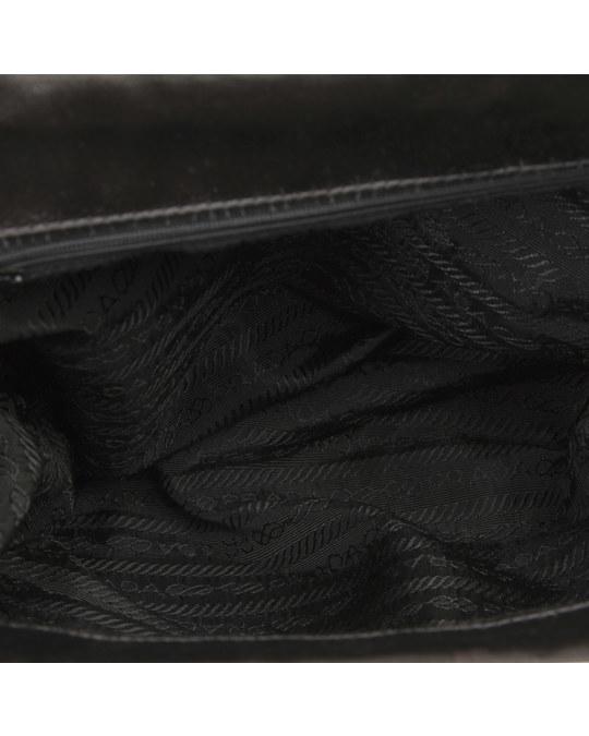 Prada Prada Satin Handbag Black
