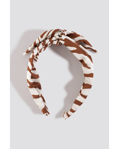 Zebra Hair Circlet Terracotta