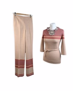Miu Miu Pink Wool Suit Mod: Pant Set