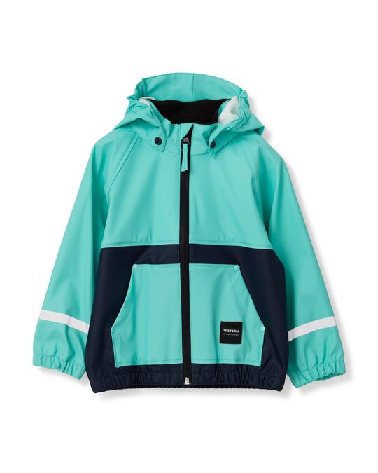 Tretorn Kids Hood Rainjacket 083/turquoise/n