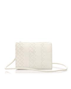Bottega Veneta Intrecciato Leather Small Wallet White