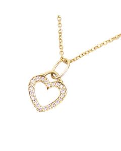 Tiffany Metro Heart Diamond Necklace Gold