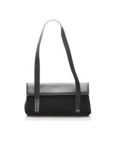 Ferragamo Canvas Shoulder Bag Black