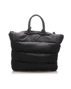 Prada Tessuto Bomber Tote Bag Black