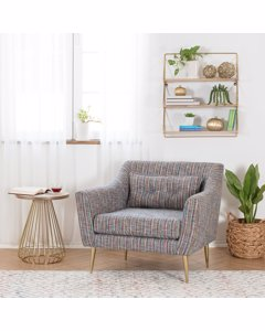 Cleo Upholstered - Accent Chair - Blue