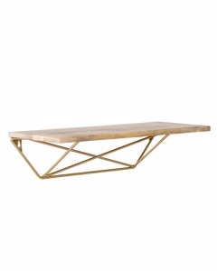 Zico - Floating Decorative Wall Shelf - Gold