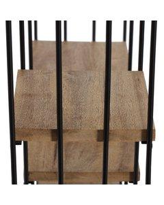 Cadiz - Floating Decorative Wall Shelf - Black & Natural Wood