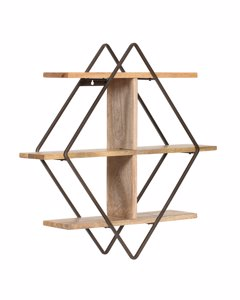 Tignes - Iron & Wood - Floating Decorative Wall Shelf - Bronze
