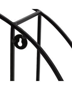 Marly - Iron & Wood - Floating Decorative Round Wall Shelf - Black