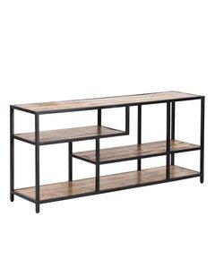 Hunter - Iron & Mango Wood - Storage Shelf - Black & Natural Wood