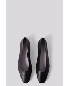 Soft Leather Ballerinas Black