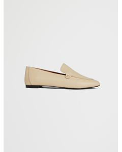 Basic Leather Loafers Beige