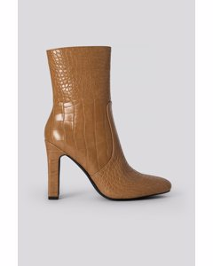 Glossy Reptile Booties Brown