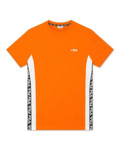 Men Tobal Tee Mandarin Orange-bright White
