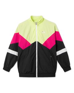 Men Ban Woven Jacket Black-sharp Green-pink Yarrow-bright White