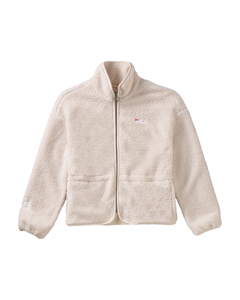 Women Hajar Sherpa Fleece Jacket Whitecap White