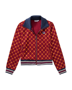 Women Lerdidwen Aop Track Jacket Rhubarb-mandarin Orange Allover