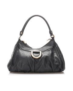 Gucci Leather Abbey D-ring Shoulder Bag Black