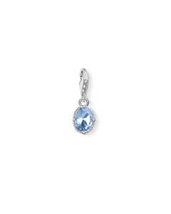 Charm Pendant Blue Stone 925 Sterling Silver