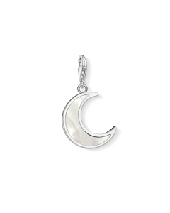 Charm Pendant Moon Mother-of-pearl 925 Sterling Silver