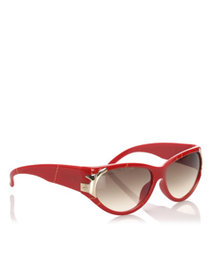Dior Round Tinted Sunglasses Red